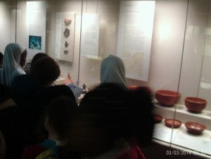 Sketching clay pottery